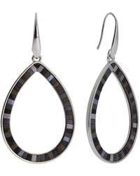 Saachi - Whimsy Leather Inlay Open Teardrop Earrings - Lyst