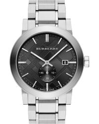 Burberry - Men's Check Stamped Bracelet Watch, 42mm - Lyst