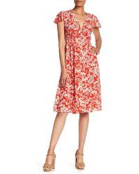 Rebecca Taylor - Cherry Blossom Silk V-neck Dress - Lyst