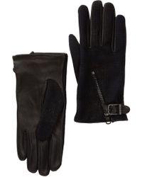 John Varvatos - Wool Blend Textile Zip Gloves - Lyst