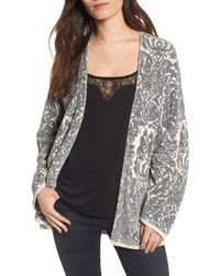 Hinge - Embroidered Cardigan - Lyst