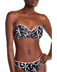 Tommy Bahama - Print Underwire Bandeau Swim Top - Lyst