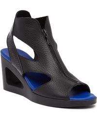 Arche - Leather Zip Wedge Sandal - Lyst