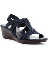 Italian Shoemakers | Perforated Wedge Sandal | Lyst