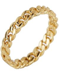 Argento Vivo - 18k Gold Plated Link Band Ring - Size 6 - Lyst