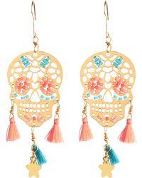 Mishky - Skull Tassel Earrings - Lyst