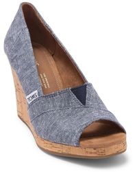 TOMS Classic Wedge Sandal - Blue