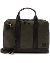 Frye - Carter Leather Trimmed Slim Briefcase - Lyst