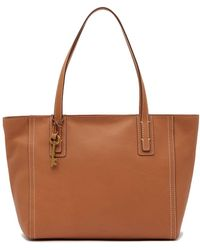 Fossil - Emma Leather Tote - Lyst