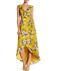 June & Hudson - Floral Ruffle Wrap Dress - Lyst