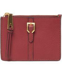Cole Haan - Kayden Leather Zip Card Case - Lyst
