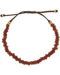 Link Up - Brown Bead Pull Cord Bracelet - Lyst