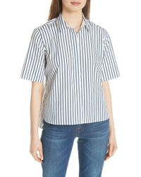 Equipment - Paulette Short Sleeve Cotton Top - Lyst