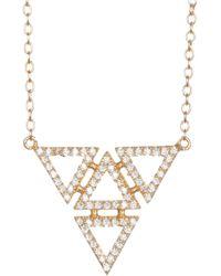 Shashi - 18k Gold Vermeil Gale Geometric Pendant Necklace - Lyst