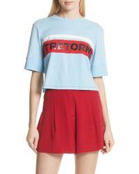 Tretorn - Crop Cotton Tee (nordstrom Exclusive) - Lyst