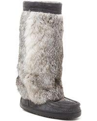 Manitobah Mukluks - Venture Tall Genuine Rabbit Fur Mukluk - Lyst
