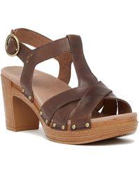 Dansko - Daniela Slingback Leather Sandal - Lyst