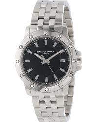 Raymond Weil - Tango Black Dial Men's Watch, 40mm - Lyst