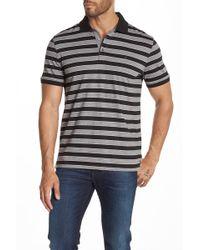 7bdcb2f4 Izod Big and Tall Short Sleeve Oxford Pique Thick Stripe Polo Shirt ...