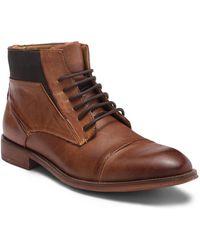 Steve Madden - Radon Cap Toe Leather Boot - Lyst