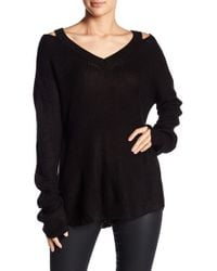 Angie - Cold Shoulder Long Sleeve Pullover - Lyst