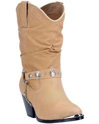 Dingo - Olivia Slouch Embellished Western Boot - Lyst