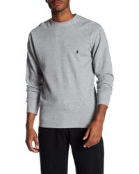 Polo Ralph Lauren - Waffle Knit Long Sleeve Crew Neck Tee - Lyst