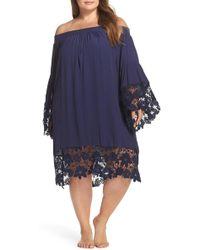 Muche Et Muchette - Jolie Lace Accent Cover-up Dress (plus-size) - Lyst