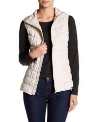 BLANC NOIR - Knit Front Zip Water Resistant Vest - Lyst