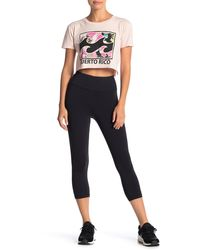 Billabong High Waisted Capri Leggings - Black