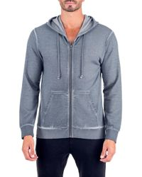 Unsimply Stitched - Dirty Washed French Terry Zip-up Hoodie - Lyst