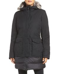 The North Face - Tuvu Water Repellent Parka With Faux Fur Trim - Lyst