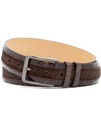Mezlan - Fuscus/fuji Brogued Genuine Croc Belt - Lyst