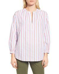 Nordstrom - Balloon Sleeve Stripe Shirt - Lyst