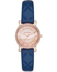 MICHAEL Michael Kors - Women's Petite Norie Leather Strap Watch, 28mm - Lyst