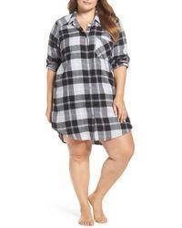Make + Model - Plaid Flannel Nightshirt (plus Size) - Lyst