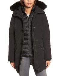 UGG - Waterproof Down Parka With Genuine Shearling Trim - Lyst