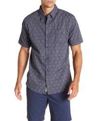 Weatherproof - Short Sleeve Front Button Print Regular Fit Woven Shirt - Lyst