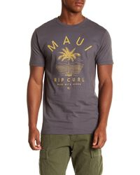 Rip Curl - Maui Front Graphic Print Standard Fit Tee - Lyst