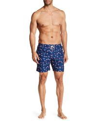 Franks - Flamingo Print Mid Length Swim Trunks - Lyst