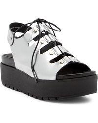 Shellys London - Kacey Leather Platform Sandal - Lyst