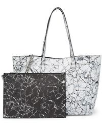 Kendall + Kylie | Izzy Marble Tote Bag & Pouch | Lyst