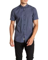 Report Collection - Geo Print Short Sleeve Slim Fit Shirt - Lyst