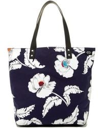 Jack Spade - Floral Printed Cotton Tote - Lyst