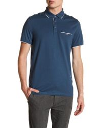 Ted Baker - Derry Flat Knit Polo - Lyst