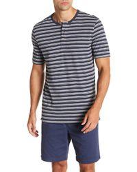 Weatherproof - Short Sleeve Stripe Henley - Lyst