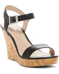 Charles David - Lindy Leather Wedge Sandal - Lyst