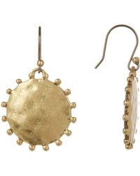 Lucky Brand - Patterned Medallion Drop Earrings - Lyst