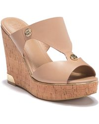 Guess - Cork Slide Wedge Heel - Lyst
