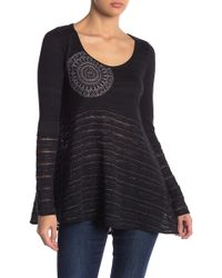 Desigual - Noelia Long Sleeve Knit Blouse - Lyst